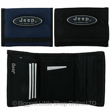 NEW Mens or Boys Velcro Sports Wallet by JEEP Canvas TriFold Strong Tough