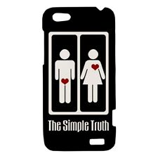 Simple Truth Funny Design - Hard Case for HTC Cell (30 Models) -OP4908
