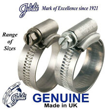 GENUINE JUBILEE HOSE CLIP CLIPS WORM DRIVE CLAMP CLAMPS HOSING PIPE AIR FUEL