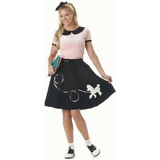 Poodle Skirt Costume Adult Womens 1950s Outfit Halloween Fancy Dress