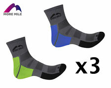 3 Pairs More Mile Montana Unisex Off Road, Fell & Trail Running Socks MM2069-70