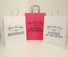 Bridesmaid Best Man Usher Father of  Bride Personalised Wedding Gift Bag 22x28cm