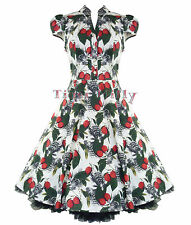 H&R fruit dress white london 50's vintage