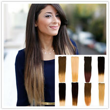 """18"""" Straight Half Head Premium Clip-in Dip Dye Ombre Remy Human Hair Extensions"""