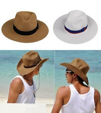 Foldable Straw Hat Cowboy Beach Sunshade Large Brimmed 3 Colors Male Outdoor New