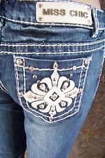 NWT Miss Chic bling Western Embellished Capri jeans size 3 5 7 9 11 15
