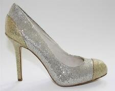 Women's Shoes Michael Kors SINCLAIR PUMP Stiletto Heels Glitter Silver Glamour