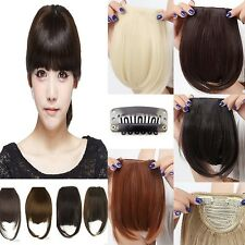 short neat bangs Clip on Front Neat Bang Fringe clip in Hair Extensions new cute