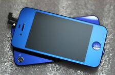 Half Metallic Blue LCD Touch Screen Digitizer Replacement For iPhone 4 4G 4s
