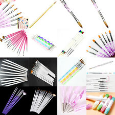 Nail Art Brush Pen UV Gel Acrylic Painting Drawing Liner Polish BrushTips#YMLA10