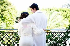 BRIDES! BRIDESMAIDS! GREAT GIFT! PLUSH WHITE BATHROBE FOR THE WEDDING PARTY ~