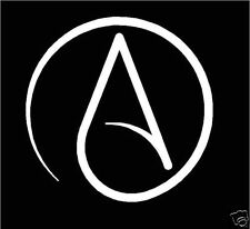 Atheist, Atheism cut vinyl window/bumper sticker