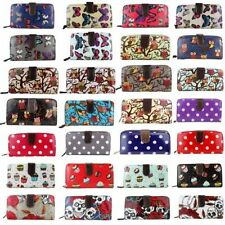 Ladies  Designer Oilcloth Large Purse Wallet Girls Coin Purse Handbag