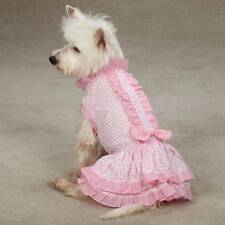 Charlotte Pet  skirt /Ruffled trim Dog Sundress Pink  All-Over-Daisy Print
