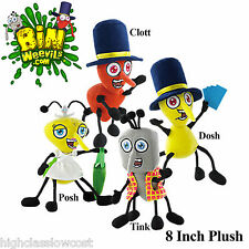 "Bin Weevils app 8"" Plush Characters. Choose Clott, Tink, Posh or Dosh Brand New"