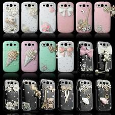 Luxury 3D Bling Rhinestone Hard Clear Case Cover for Samsung Galaxy S3 i9300