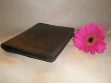 Real Brown Leather Passport Travel ID Wallet case travel handcrafted holiday
