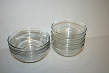 Set food prep bowls clear glass pinch food herb dipping cooking condiment mini