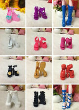 60 styles Hot Fashion Shoes Boots For Original Monster High Doll Accessories