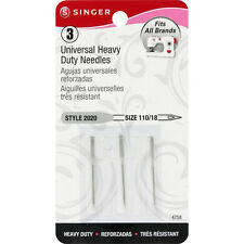 Singer Universal Heavy Duty Needles Size 18/110 3 Pack Style 2020