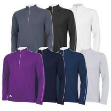 New 2014 Adidas Golf 3-Stripes Piped 1/4 Zip Pullover - Multiple Sizes & Colors