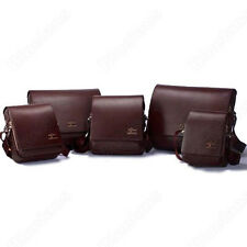 Men's Black Brown Kangaroo Leather Shoulder Messenger Bag Size S M L XL