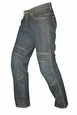 GBG Kevlar Biker Motorcycle Stretch Panel Pants Denim Jeans