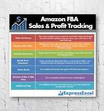 Amazon Seller Sales & Profit Excel Spreadsheet