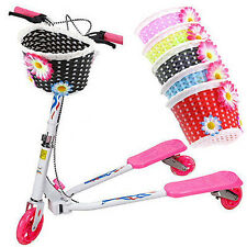 Retro Front Bicycle Bike Flower Basket Shopping Stabilizers Children Kids New P5