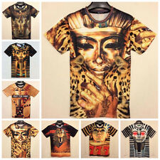 2014 Hot Sale! Men's Women's Egyptian King Tut Pharaoh 3D Space Galaxy T-shirt
