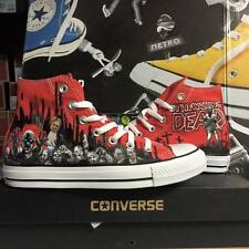 Converse Printed The Walking Dead Zombie Alte Rosse Red Hi Customizzate Custom