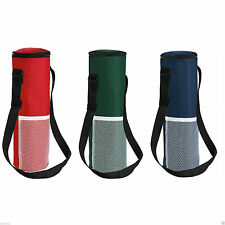 INSULATED BOTTLE PICNIC DRINKS CARRIER COOL BAG WITH STRAP -  WINE COOLER