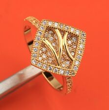 White Topaz & Zircon 18k Gold Filled Gemstones Fashion Rings Size6 7 8 9 B6945