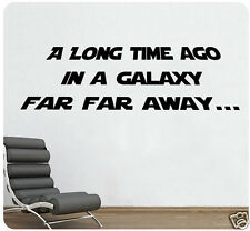 "24"" Star Wars A Long Time Ago In A Galaxy Far Far Away Wall Decal Sticker Quote"