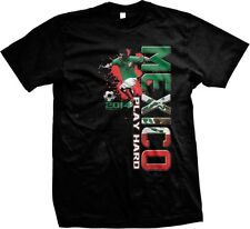 2014 Play Hard Mexico Mexican Team Pride Soccer Ball World Cup -Mens T-shirt