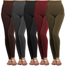 TheMogan High Waisted Blushed Fleece Lined Leggings Tights Stretch Skinny Pants