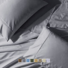 Wrinkle Free 650 Thread Count Solid Cotton Blend Sheet set(Available in 8 Sizes)
