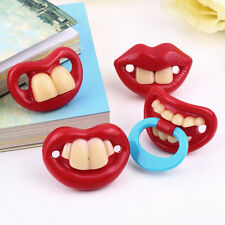 Cute Baby Funny Dummy Prank Pacifier Novelty Teeth Children Child Soother SR