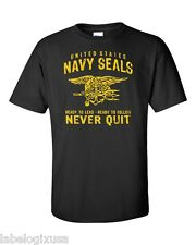 NAVY SEALS-BLACK T-SHIRT-NEW-ALL SIZES AVAILABLE-READY TO LEAD-READY TO FOLLOW