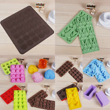 1x Chocolate Cake Cookie Candy Jelly Baking Ice Tray Silicone Bakeware Mould #G1
