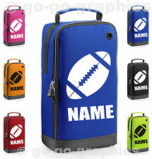 Personalised Sports Shoe Bag with Carry Handle - Rugby Logo & Name - Boot Bag