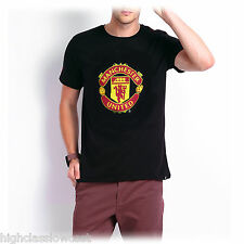 Official Manchester United Football TShirt SL Core Crest Black Sizes S-XL NEW UK