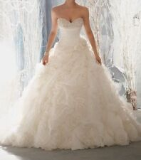 New White/Ivory Sweetheart Wedding Dress Bridal Gown Size2-4-6-8-10-12-14-16-18+