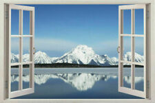 Window 3d snow White Scape Instant View in Snow Wall Sticker Decal Graphic