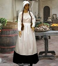 Ladies  Medieval ,Tudor serving wench peasant 4pc costume fancy dress size 22-32