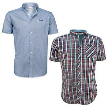 Lonsdale Ronnie Short Sleeve Shirt Button Down Collar Cotton Check Chemise S-XXL