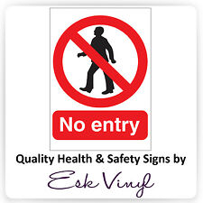 """""""No Entry"""" Prohibition Sticker / Signs - Multi Pack Discount - Warning Label"""