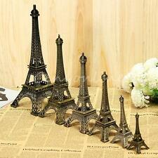 Bronze Tone Paris Eiffel Tower Figurine Miniature Statue Vintage Model Decor