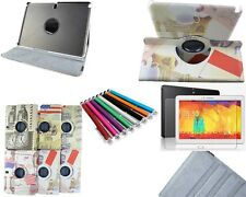For Samsung Galaxy Note 10.1 2014 Edition Retro 360 Rotating Case Cover Film Pen