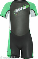 Bare Kids Tadpole WetSuit Shorty Sun Guard Swim Green All Size 2,4,6yr